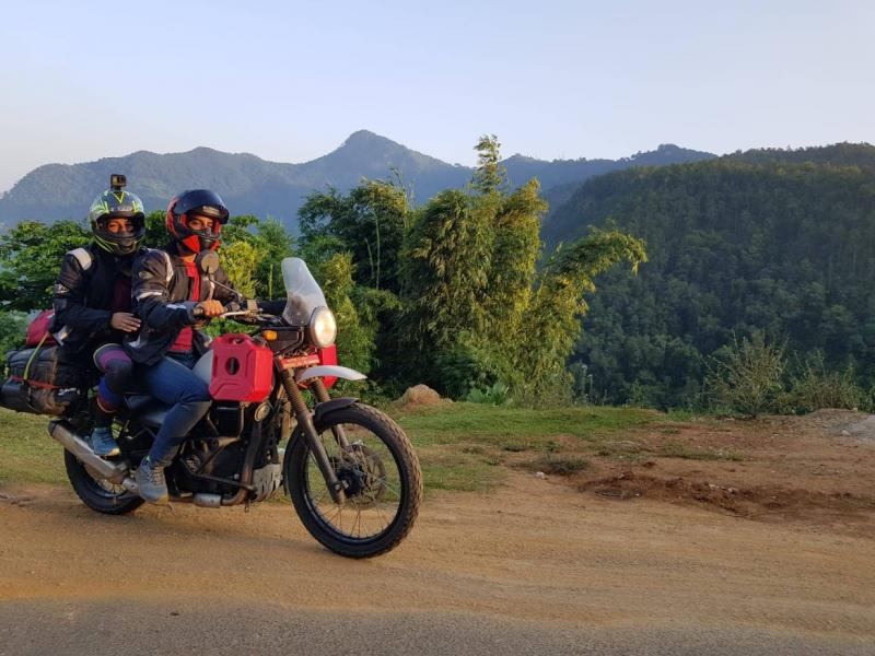 Pillion ride in Nepal